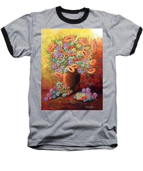 Sunflowers Baseball T-Shirt