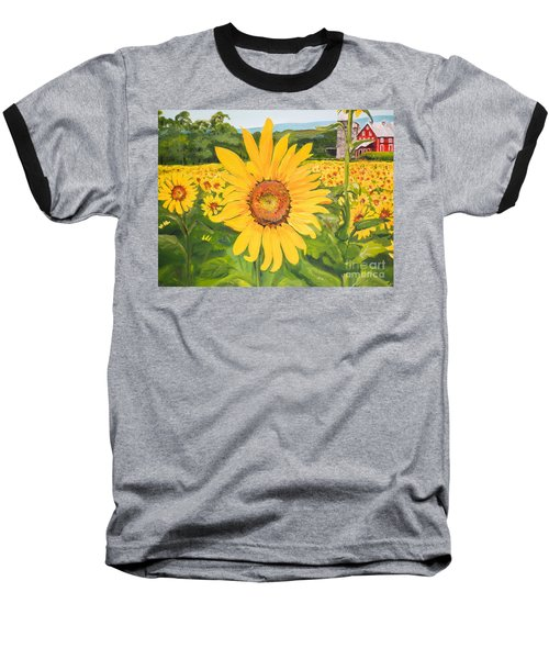 Sunflowers - Red Barn - Pennsylvania Baseball T-Shirt