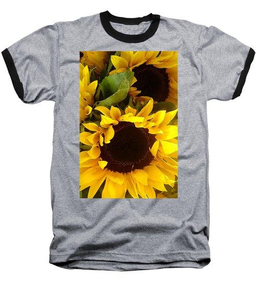 Sunflowers Tall Baseball T-Shirt
