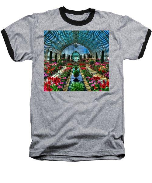 Sunken Garden Marjorie Mc Neely Conservatory Baseball T-Shirt by Amanda Stadther