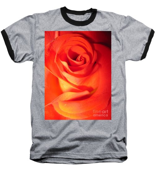 Sunkissed Orange Rose 10 Baseball T-Shirt