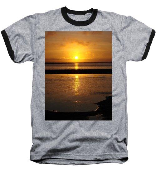 Baseball T-Shirt featuring the photograph Sunkist Sunset by Athena Mckinzie