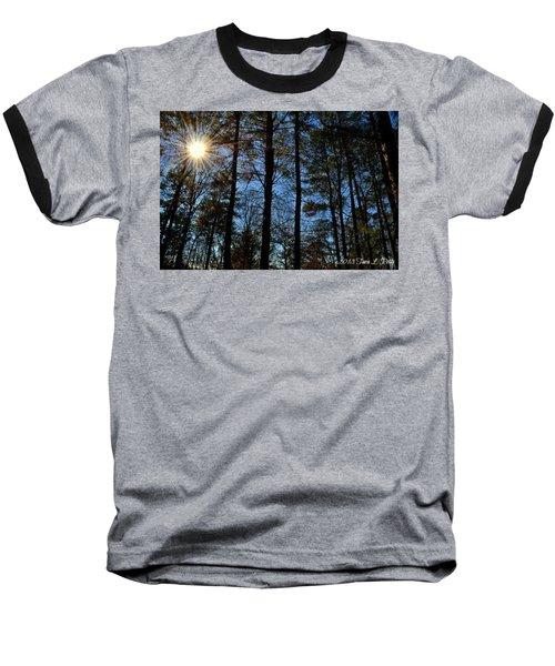 Baseball T-Shirt featuring the photograph Sunlight Through Trees by Tara Potts