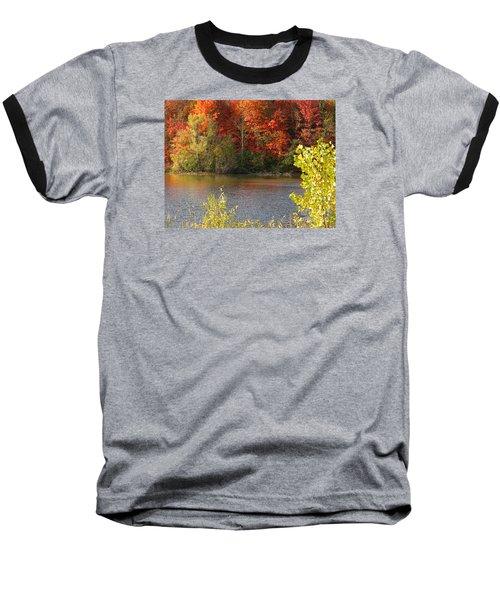 Sunlit Autumn Baseball T-Shirt by Ann Horn