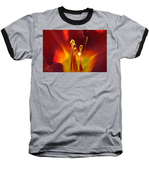 Baseball T-Shirt featuring the photograph Sunlit Lily by David Porteus