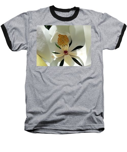 Sunny And Shy Magnolia Baseball T-Shirt