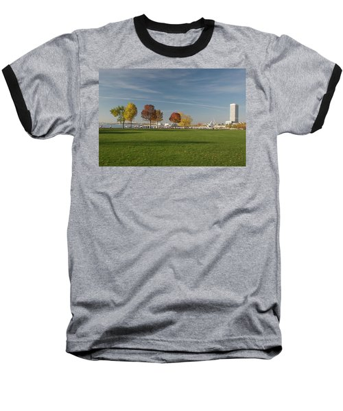 Sunny Autumn Day Baseball T-Shirt by Jonah  Anderson