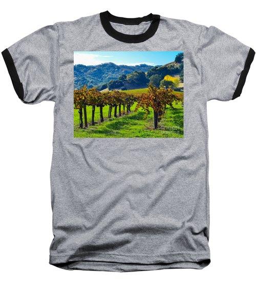 Sunny Autumn Vineyards Baseball T-Shirt