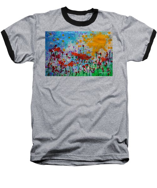 Sunny Day Baseball T-Shirt by Jacqueline Athmann