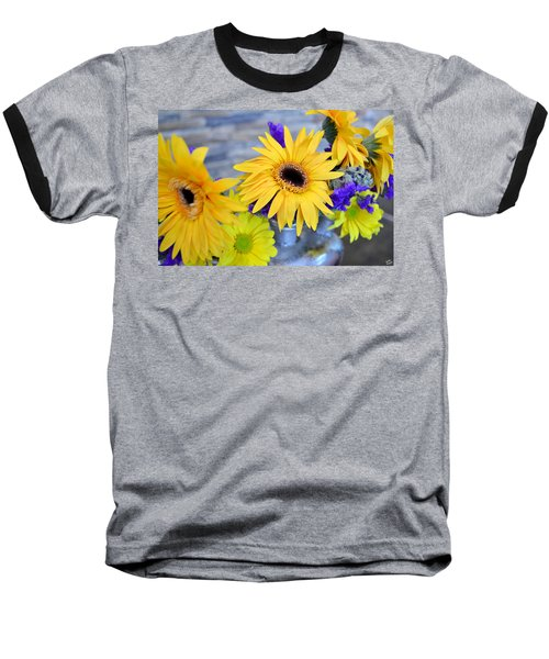 Baseball T-Shirt featuring the photograph Sunny Days by Ally  White