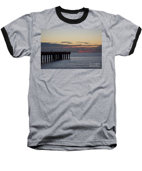 Baseball T-Shirt featuring the photograph Sunny Isles Fishing Pier Sunrise by Rafael Salazar