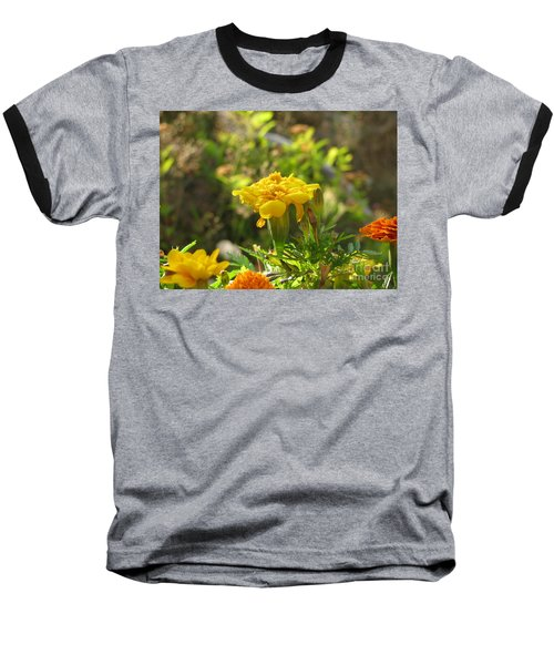 Sunny Marigold Baseball T-Shirt