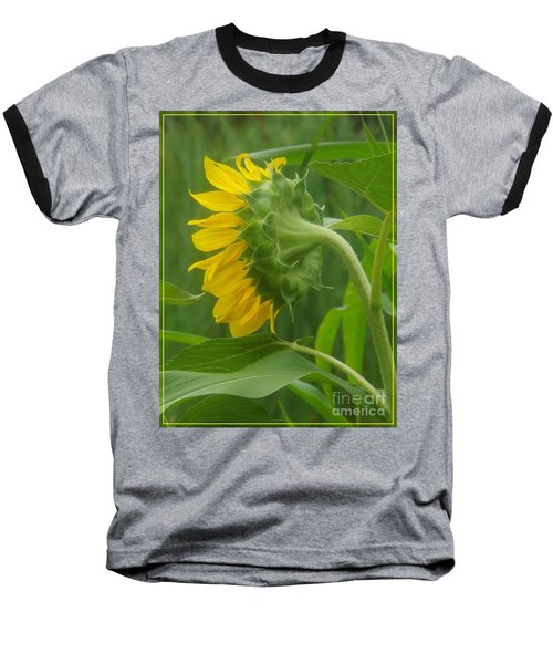 Sunny Profile Baseball T-Shirt by Sara  Raber