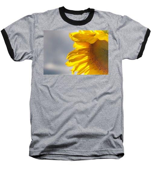 Sunny Sunflower Baseball T-Shirt by Cheryl Baxter