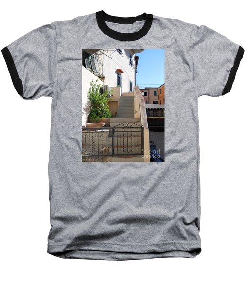 Baseball T-Shirt featuring the photograph Sunny Tuscany Village by Ramona Matei