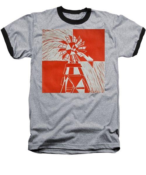 Sunny Windmill Baseball T-Shirt by Verana Stark