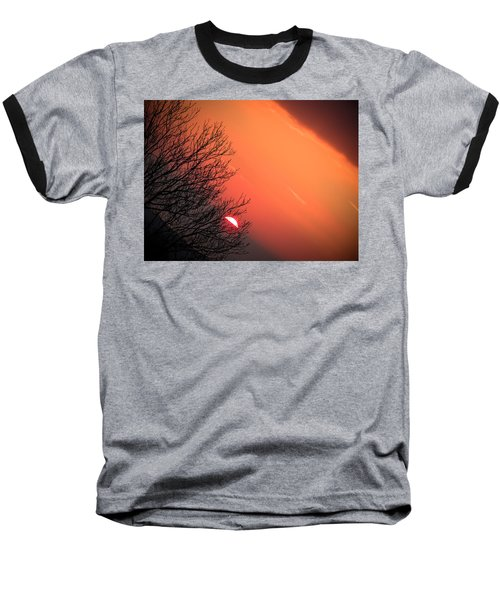 Sunrise And Hibernating Tree Baseball T-Shirt