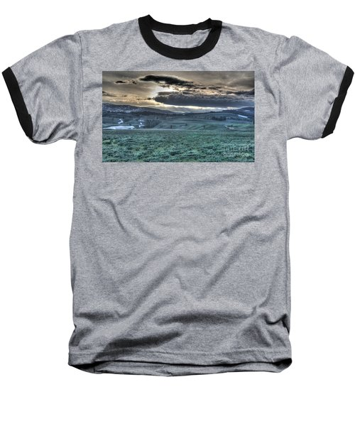 Sunrise At A Small Pond In Yellowstone Baseball T-Shirt