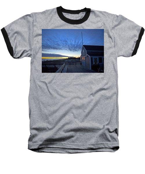 Sunrise At Barnstable Yacht Club Baseball T-Shirt
