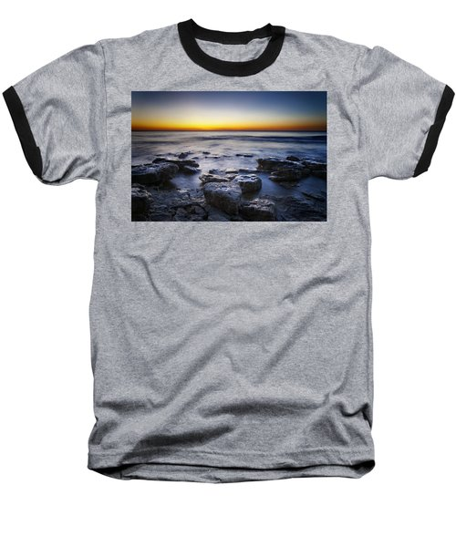 Sunrise At Cave Point Baseball T-Shirt by Scott Norris