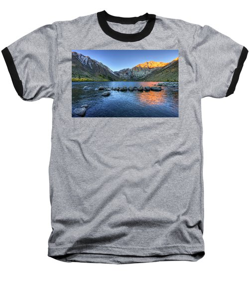 Sunrise At Convict Lake Baseball T-Shirt