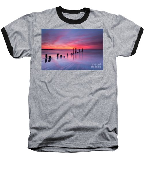 Sunrise At Deal Nj Baseball T-Shirt by Michael Ver Sprill