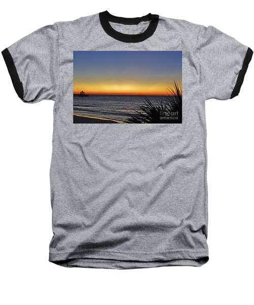 Sunrise At Folly Baseball T-Shirt