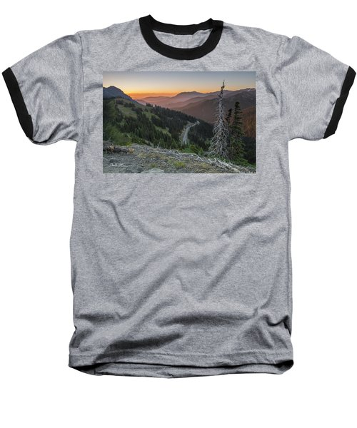 Sunrise At Hurricane Ridge - Sunrise Peak Baseball T-Shirt