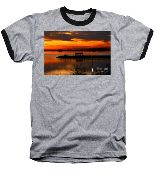 Sunrise At Jackson Baseball T-Shirt by Steven Reed