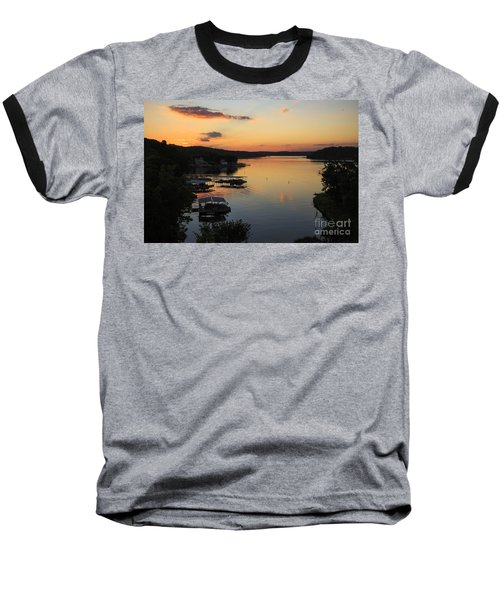 Sunrise At Lake Of The Ozarks Baseball T-Shirt by Dennis Hedberg