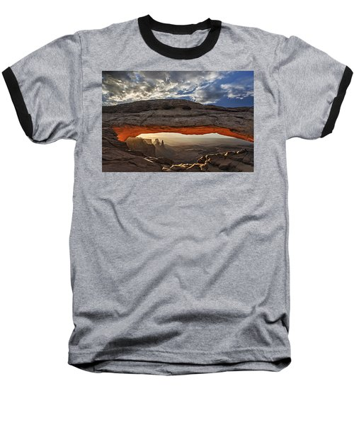 Sunrise At Mesa Arch Baseball T-Shirt