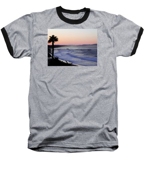 Sunrise At Pismo Beach Baseball T-Shirt by Kathy Churchman