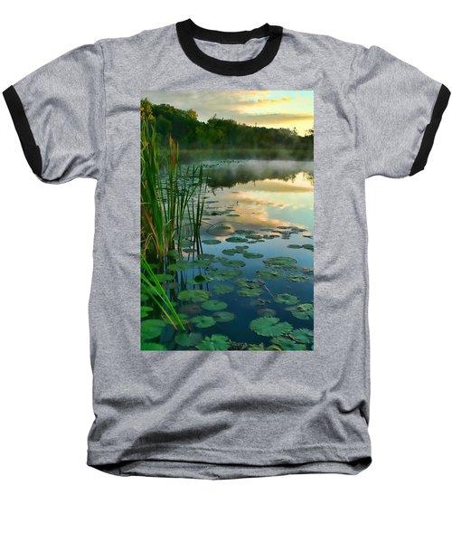 Sunrise At Pokagon State Park  Baseball T-Shirt