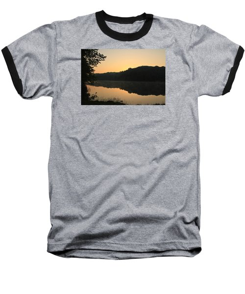 Sunrise At Rose Lake Baseball T-Shirt