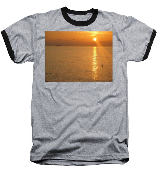 Baseball T-Shirt featuring the photograph Sunrise At Sea by Photographic Arts And Design Studio