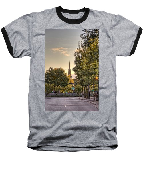 Sunrise At The End Of The Street Baseball T-Shirt by Daniel Sheldon