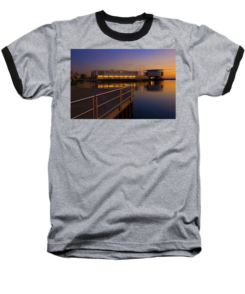 Sunrise At The Lakefront Baseball T-Shirt by Jonah  Anderson