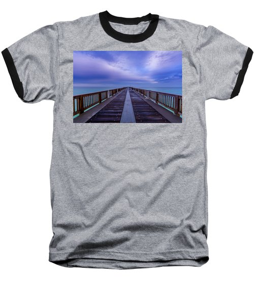Sunrise At The Panama City Beach Pier Baseball T-Shirt