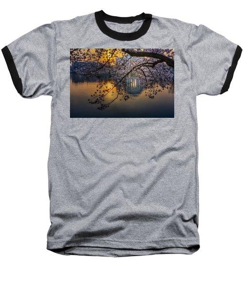 Sunrise At The Thomas Jefferson Memorial Baseball T-Shirt
