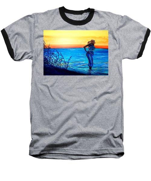 Sunrise Blues Baseball T-Shirt
