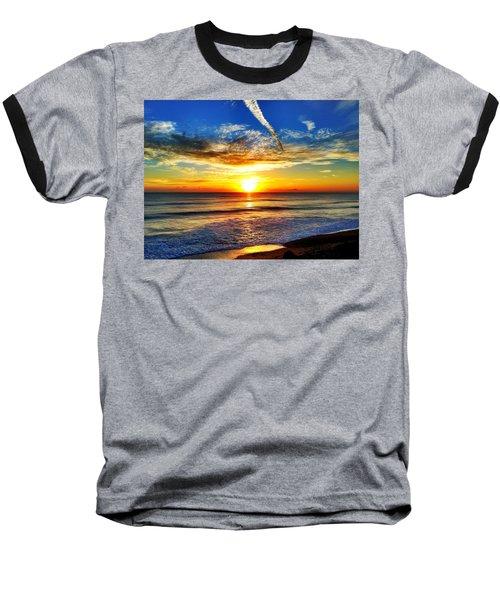 Sunrise Baseball T-Shirt by Carlos Avila