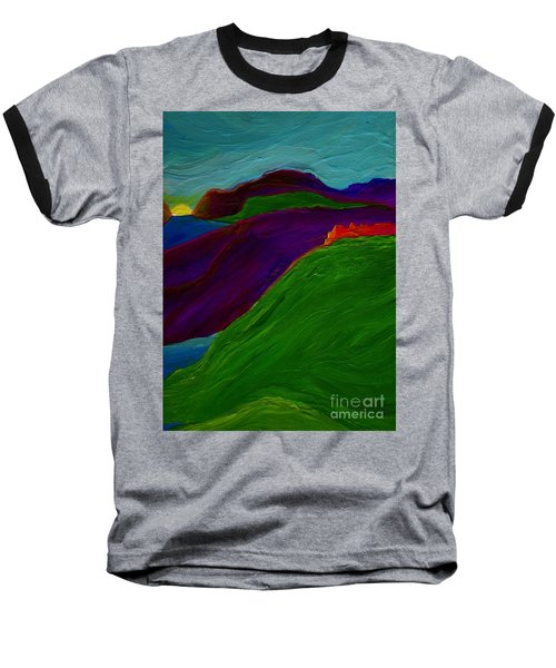 Baseball T-Shirt featuring the painting Sunrise Castle By Jrr by First Star Art