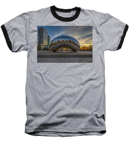 Baseball T-Shirt featuring the photograph Sunrise Cloud Gate by Sebastian Musial