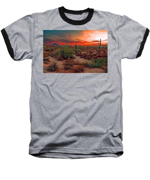 Sunrise Cocktail Baseball T-Shirt by Tam Ryan