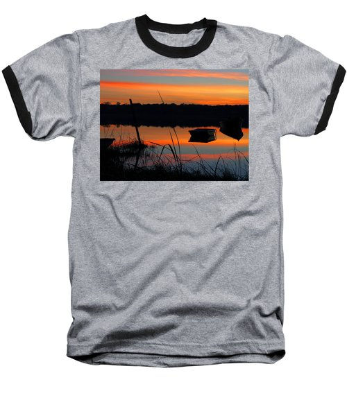 Sunrise Cove  Baseball T-Shirt by Dianne Cowen