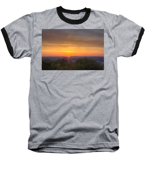 Sunrise Baseball T-Shirt by Daniel Sheldon