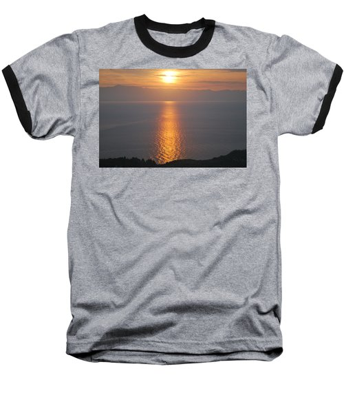 Baseball T-Shirt featuring the photograph Sunrise Erikousa 1 by George Katechis