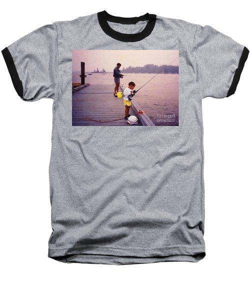 Sunrise Fishing Baseball T-Shirt