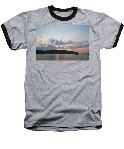 Baseball T-Shirt featuring the photograph Sunrise by George Katechis
