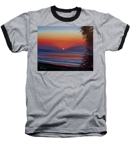 Baseball T-Shirt featuring the painting Sunrise Glow by Donna Tuten
